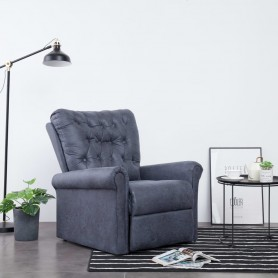 Chaise inclinable Gris Similicuir daim