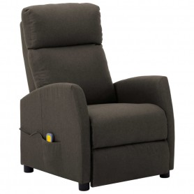 Fauteuil de massage inclinable Taupe Tissu