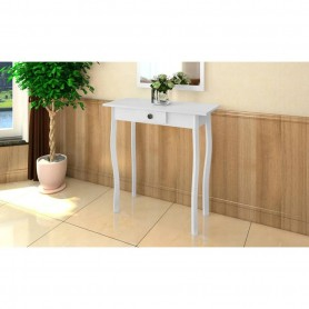 Table console MDF Blanc