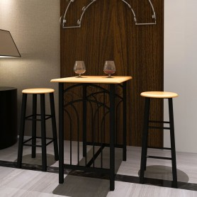 Lot d'une table haute de bar avec 2 tabourets ''phoenix''