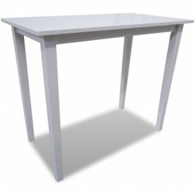 Table de bar en bois Blanc