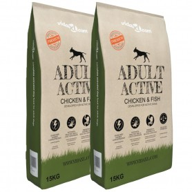 Nourriture pour chiens Adult Active Chicken & Fish 2 pcs 30 kg