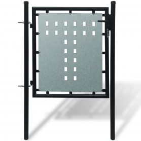 Portillon de jardin Single Noir 100 x 125 cm