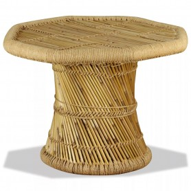 Table basse octogonale Bambou 60 x 60 x 45 cm