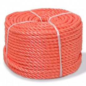 Corde torsadée Polypropylène 10 mm 100 m Orange
