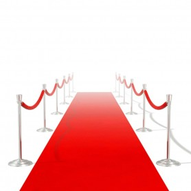 Tapis rouge 1 x 20 m Extra lourd 400 g/m²