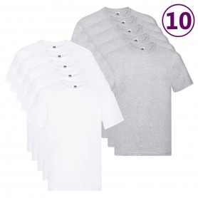 Fruit of the Loom T-shirts originaux 10 pcs XXL Coton