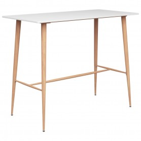 Table de bar Blanc 120x60x96 cm