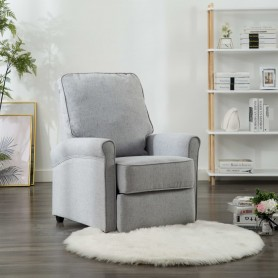 Fauteuil inclinable TV Gris clair Tissu