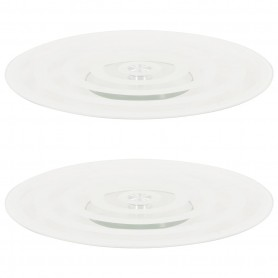 Assiette de service rotative 2pcs Transparent 30cm Verre trempé