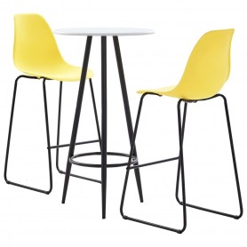 Ensemble de bar 3 pcs Plastique Jaune