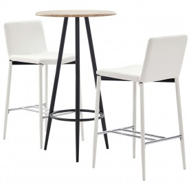 Ensemble de bar 3 pcs Similicuir Blanc