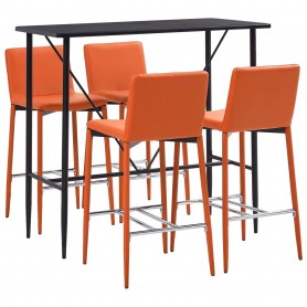 Ensemble de bar 5 pcs Similicuir Orange
