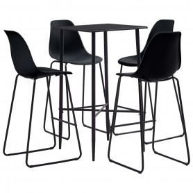 Ensemble de bar 5 pcs Plastique Noir