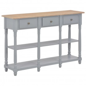 Table console Gris 120x30x76 cm MDF